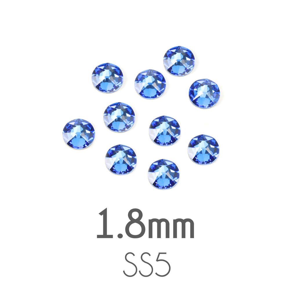 Beads & Swarovski Crystals 1.8mm Swarovski Flat Back Crystals, Sapphire, Pack of 20