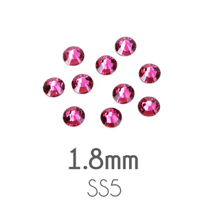 Beads & Swarovski Crystals 1.8mm Swarovski Flat Back Crystals, Fuchsia, Pack of 20