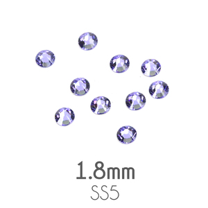 Beads & Swarovski Crystals 1.8mm Swarovski Flat Back Crystals, Tanzanite, Pack of 20
