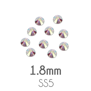 Beads & Swarovski Crystals 1.8mm Swarovski Flat Back Crystals, Crystal AB, Pack of 20