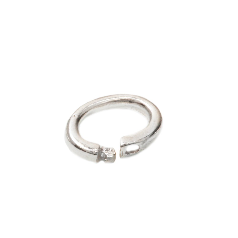 Jump Rings Sterling Silver Oval Locking Ring, 4mm x 3mm Pk of 10