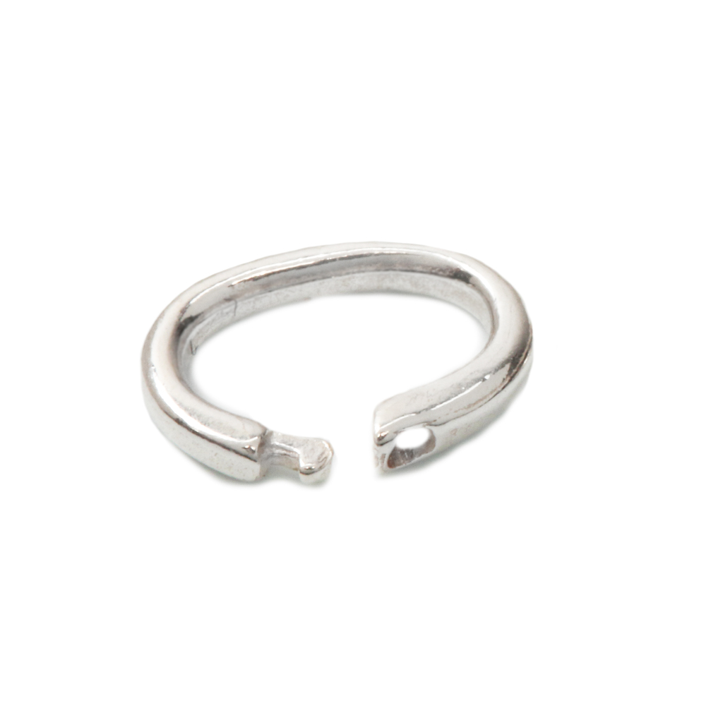 Jump Rings Sterling Silver Oval Locking Ring, 5mm x 3mm Pk of 10
