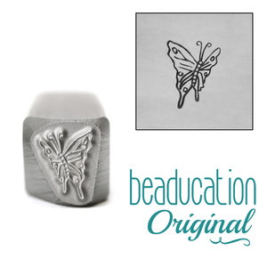 Metal Stamping Tools Side View Butterfly Metal Design Stamp, 9.5mm - Beaducation Original