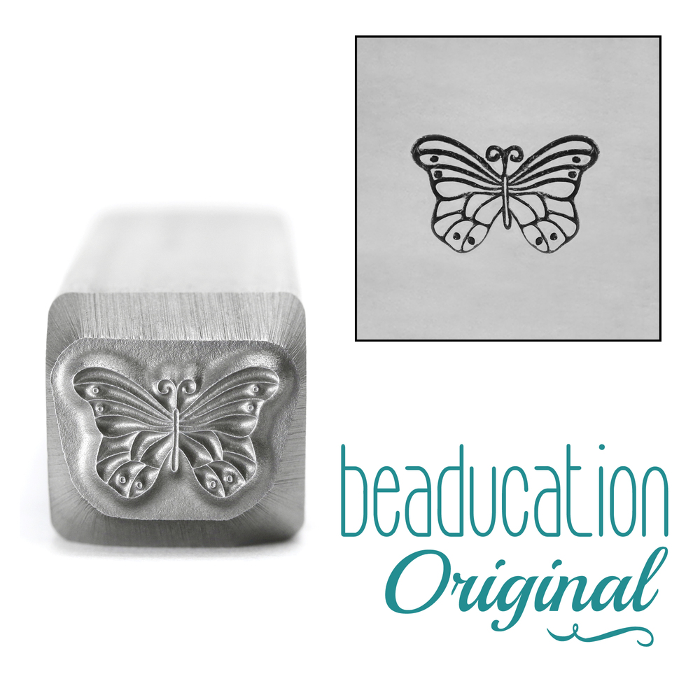Metal Stamping Tools Monarch Butterfly Metal Design Stamp, 10mm - Beaducation Original