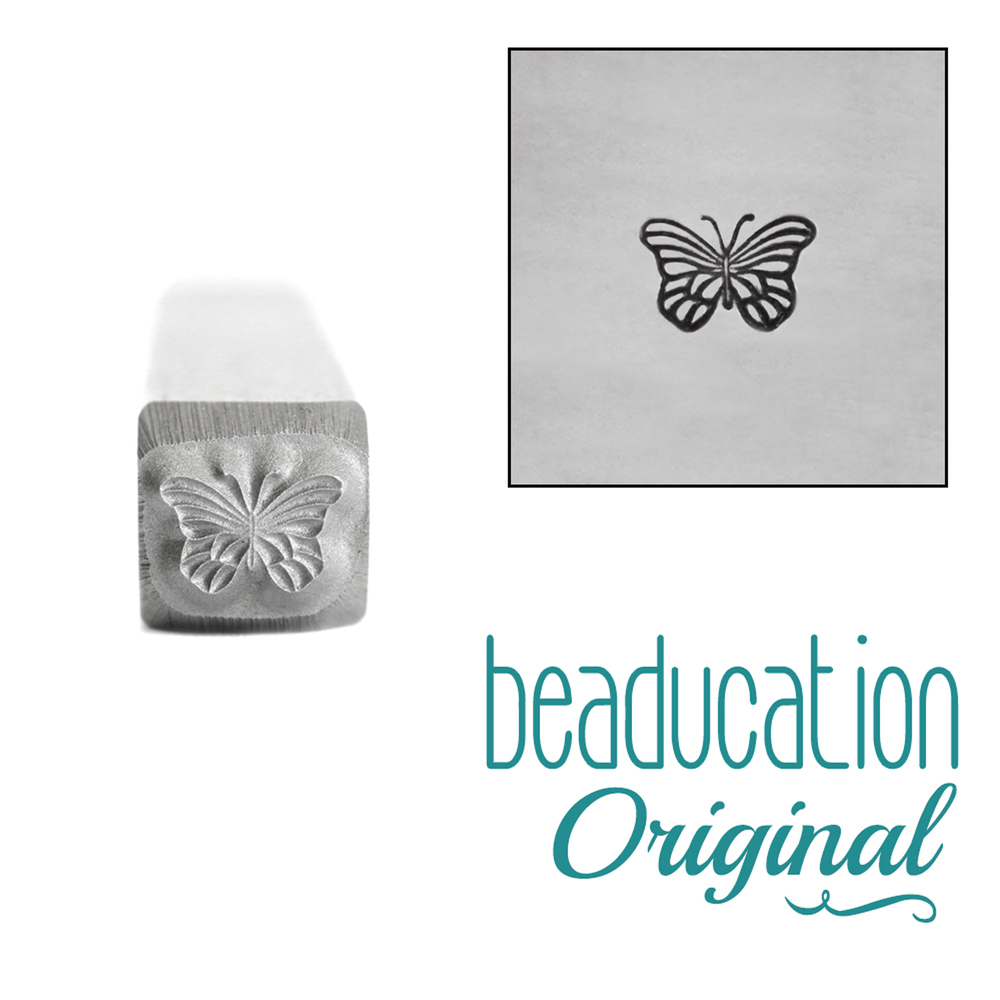 Metal Stamping Tools Monarch Butterfly Metal Design Stamp, 5mm - Beaducation Original