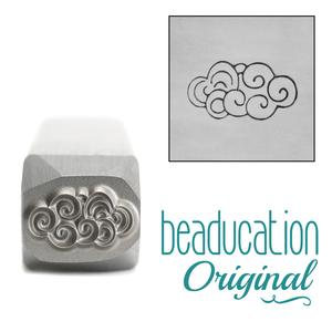 Metal Stamping Tools Swirly Cloud Metal Design Stamp, 11mm - Beaducation Original