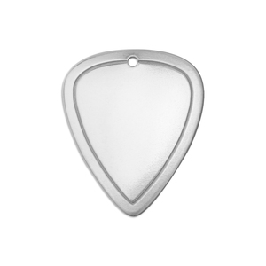 "Metal Stamping Blanks Alkeme Border Guitar Pick with Hole, 31mm (1.22"") x 26mm (1.02""), 18g"