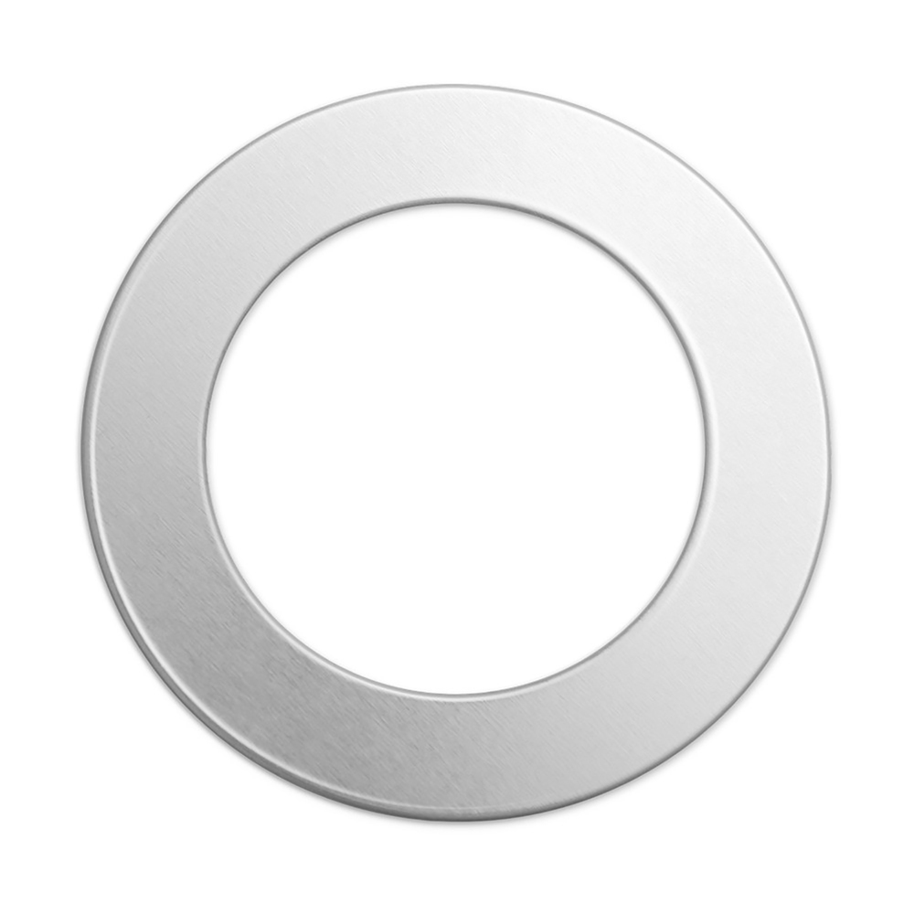 "Metal Stamping Blanks Alkeme Washer, 38mm (1.5"") with 25mm (.98"") ID, 18 Gauge, Pack of 4"