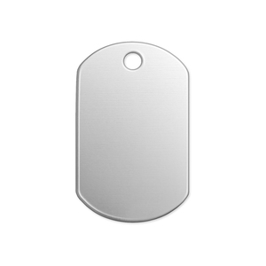 "Metal Stamping Blanks Alkeme Dog Tag, 32mm (1.25"") x 19mm (.75""), 18 Gauge, Pack of 4"