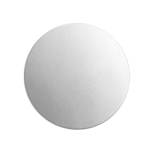 "Metal Stamping Blanks Alkeme Round, Disc, Circle, 25mm (1""), 18 Gauge, Pack of 4"