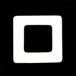 """Metal Stamping Blanks Sterling Silver Rounded Square Washer, 7/8"""" OD 1/2"""" ID, 22g"""