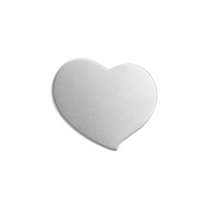 "Metal Stamping Blanks Alkeme Swirly Heart, 20.5mm (.81"") x 18mm (.71""), 18 Gauge, Pack of 4"