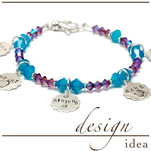 """Design Idea: """"Sisters"""" Charm Bracelet"""