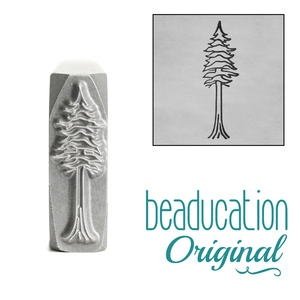 Metal Stamping Tools Redwood Tree Metal Design Stamp, 16.5mm - Beaducation Original