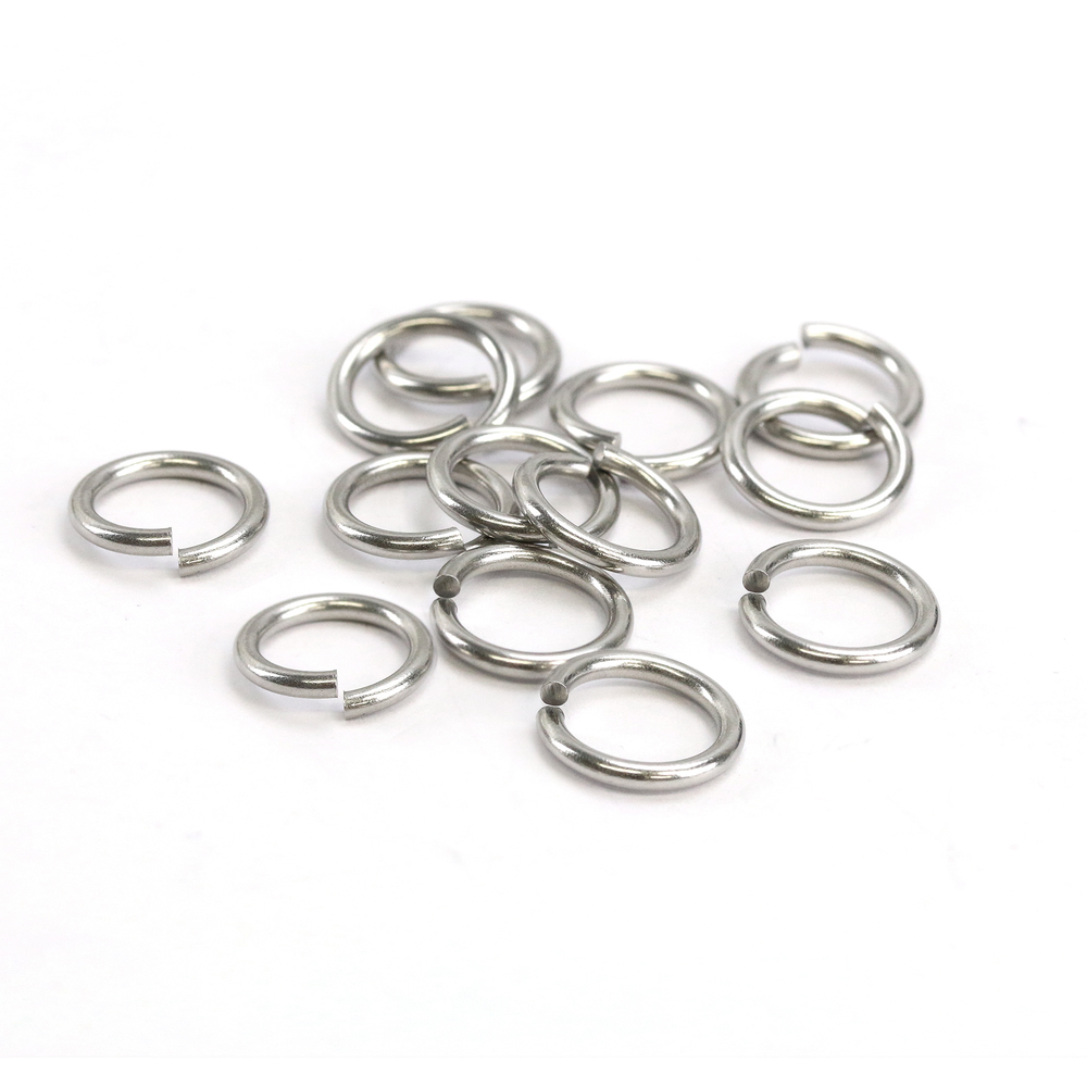Jump Rings Stainless Steel 5mm I.D. 16 Gauge Jump Rings, 1/4 ozt (~35 rings)