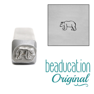Metal Stamping Tools Baby Bear Metal Design Stamp, 6.5mm - Beaducation Original