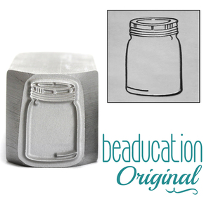 Metal Stamping Tools Mason Jar Metal Design Stamp, 16mm - Beaducation Original