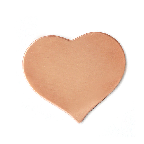 "Metal Stamping Blanks Copper Puffy Heart, 24mm (.94"") x 21.5mm (.85""), 24g, Pack of 5"