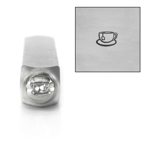 Metal Stamping Tools ImpressArt Tea Cup Metal Design Stamp, 6mm