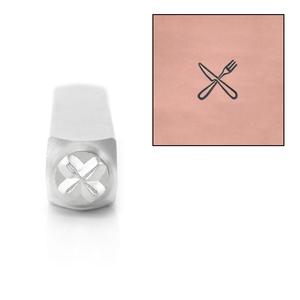Metal Stamping Tools ImpressArt Fork and Knife Design Stamps, 6mm