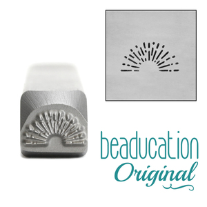Metal Stamping Tools Vintage Sunrise Metal Design Stamp, 8mm - Beaducation Original