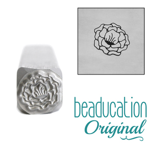 Metal Stamping Tools Tuscan Rose Flower Metal Design Stamp, 8mm - Beaducation Original