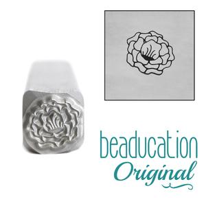 Metal Stamping Tools Tuscan Rose Flower Metal Design Stamp, 8mm - Beaducation Original