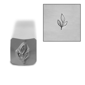 Metal Stamping Tools Leaves with Stem Metal Design Stamp, 6mm, by Stamp Yours