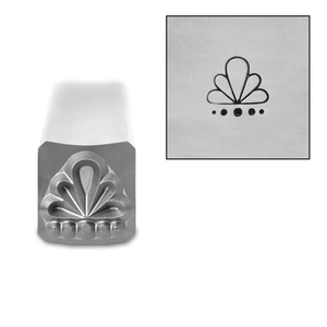 Metal Stamping Tools Art Deco Pattern 2 Metal Design Stamp, 6mm, by Stamp Yours