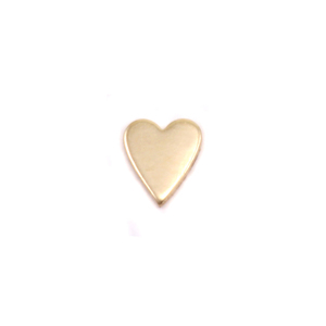 "Charms & Solderable Accents Gold Filled Skinny Heart Solderable Accent, 5.4mm (.21"") x 4.5mm (.18""), 24g - Pack of 5"