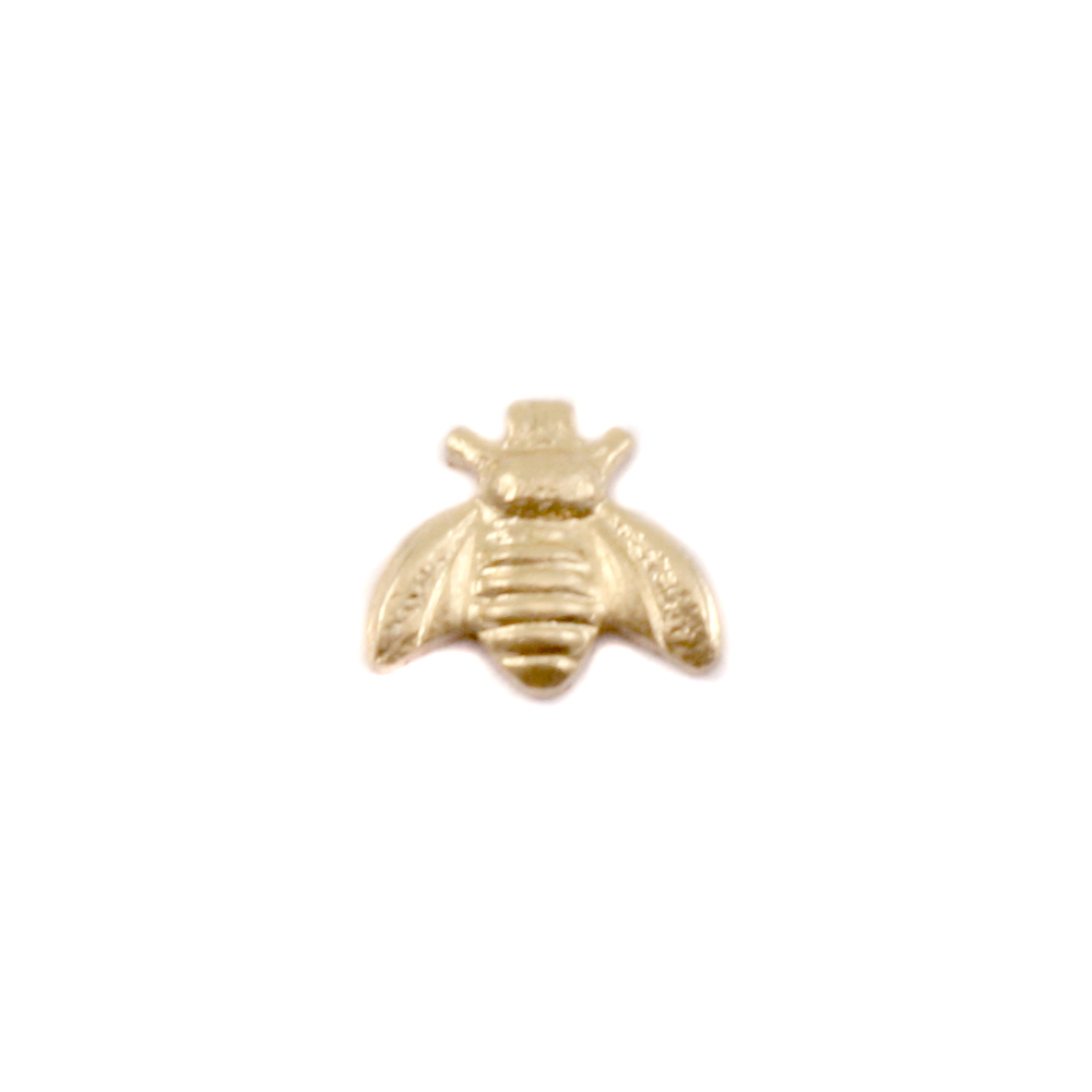 "Charms & Solderable Accents Gold Filled Bumble Bee Solderable Accent, 6.3 (.24"") x 5.5 (.21""), 26g - Pack of 5"