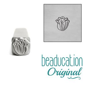 Metal Stamping Tools Tulip Flower  Metal Design Stamp, 5mm - Beaducation Original