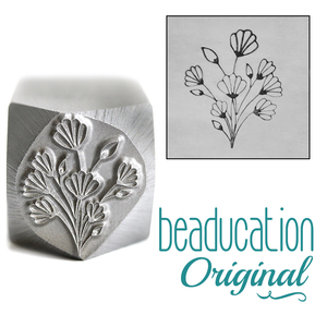 Metal Stamping Tools Art Nouveau Flower Bouquet Metal Design Stamp, 17.8mm - Beaducation Original