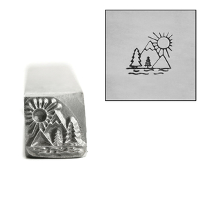 Metal Stamping Tools Mountain Sunrise Metal Design Stamp, 9mm