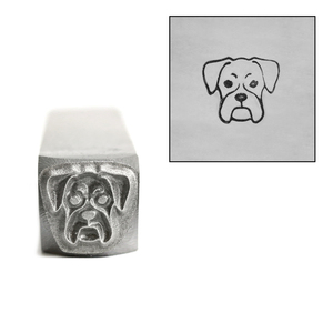 Metal Stamping Tools Boxer Dog Face Metal Design Stamp, 8.5mm