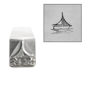 Metal Stamping Tools Sailboat Metal Design Stamp, 8.3mm