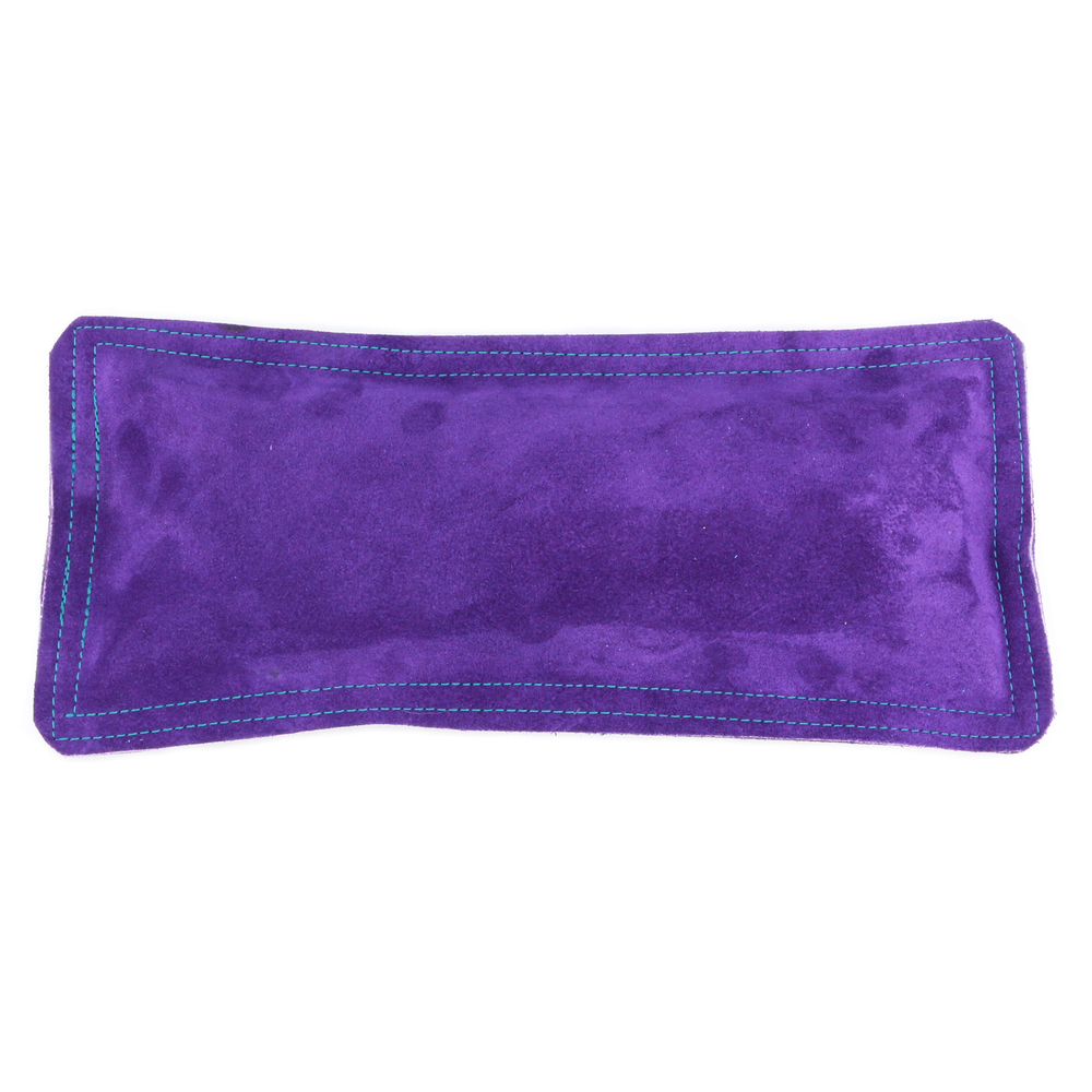 "Jewelry Making Tools Sandbag, Ring Mandrel Pad - 12"" x 5.5"" Purple Leather/Suede"