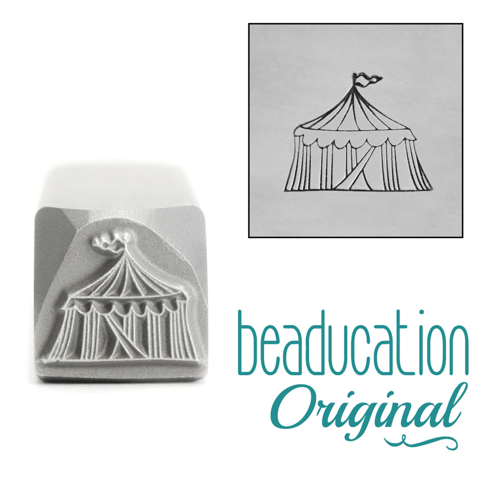 Metal Stamping Tools Circus Tent Metal Design Stamp, 11mm - Beaducation Original