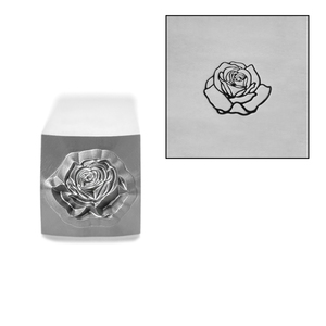 Metal Stamping Tools Rose Style 2 Flower Metal Design Stamp, 5mm, by Stamp Yours