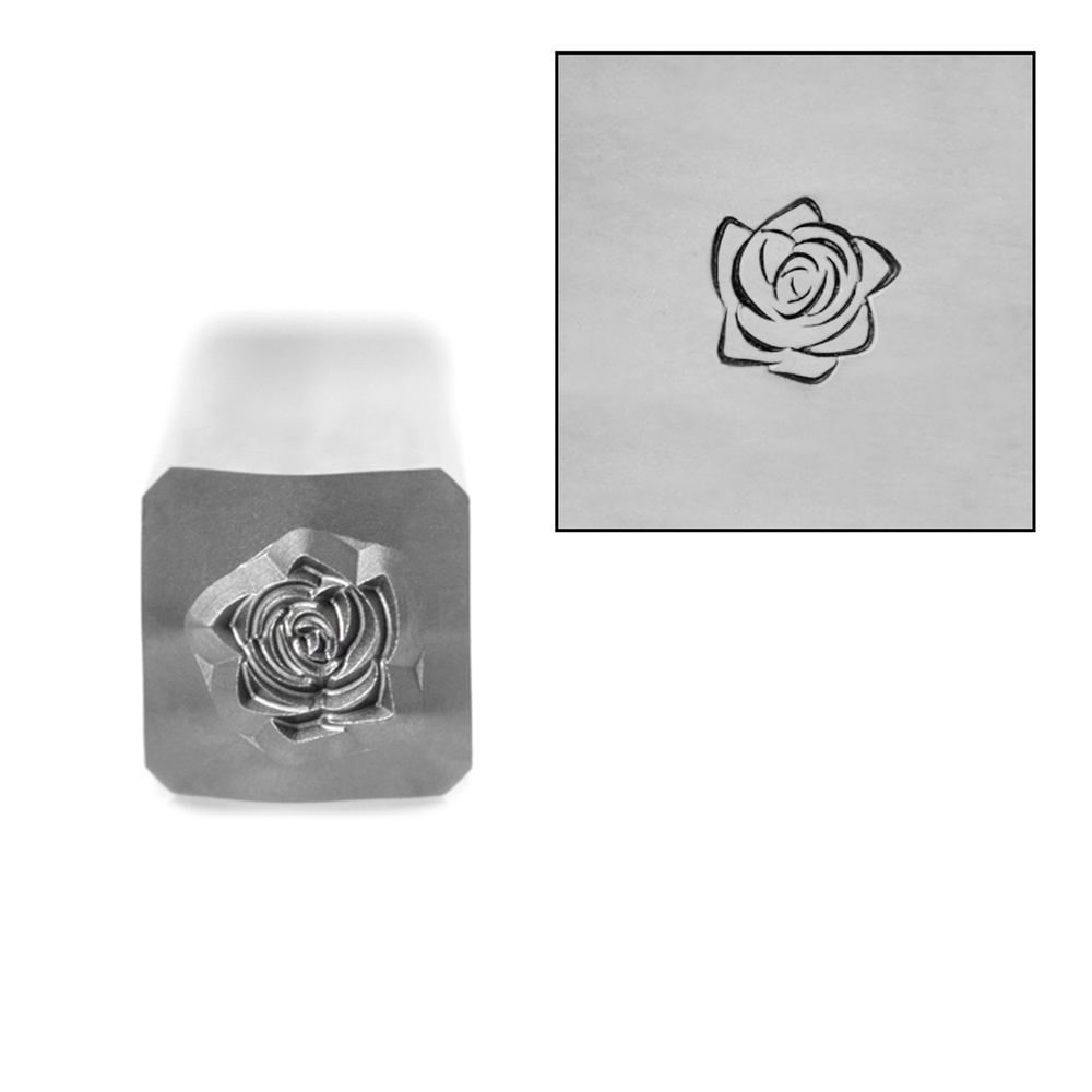 Metal Stamping Tools Rose Style 3 Flower Metal Design Stamp, 5mm, by Stamp Yours