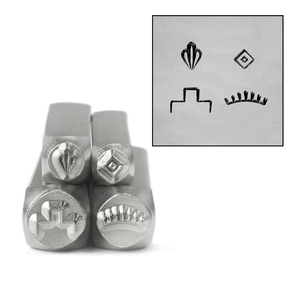 Metal Stamping Tools ImpressArt Southwestern Mandala Stamp, 4 Pack