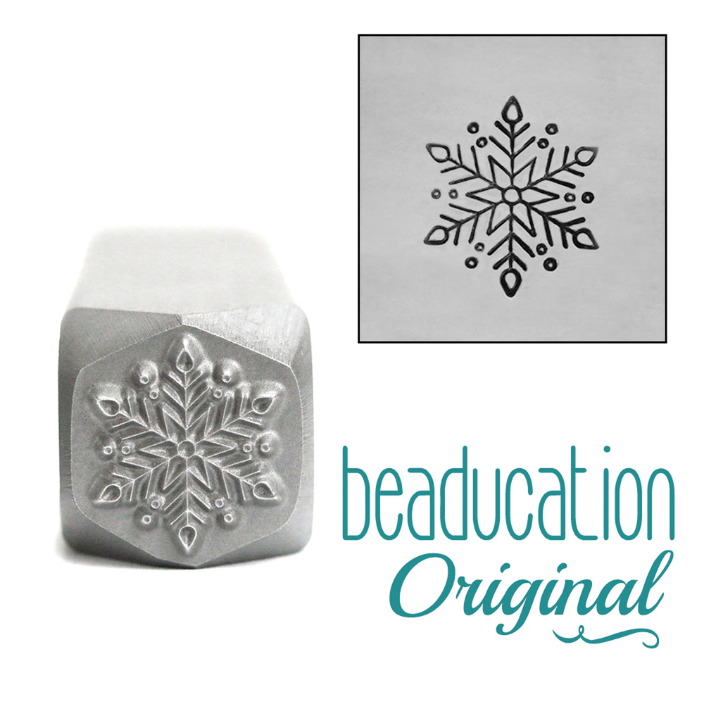 Metal Stamping Tools Classic Snowflake Metal Design Stamp, 10mm - Beaducation Original