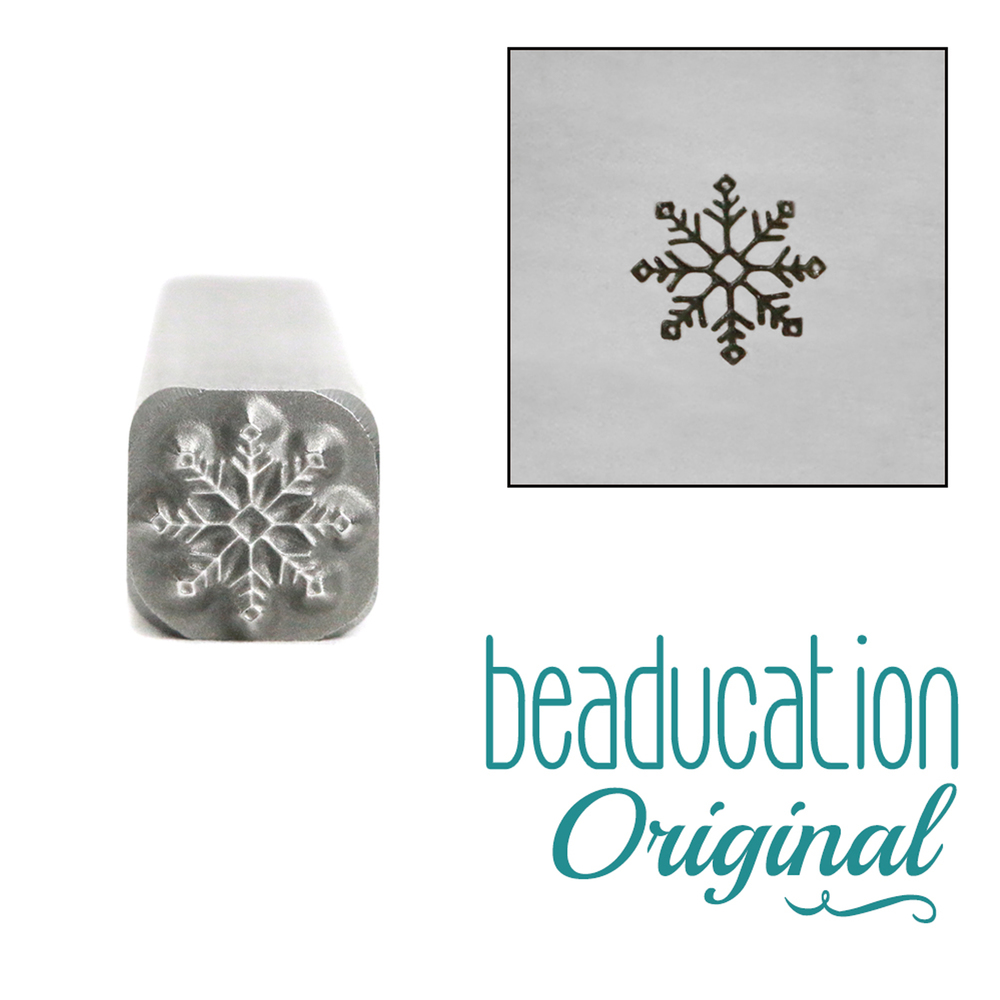 Metal Stamping Tools Winter Flower Metal Design Stamp, 5mm - Beaducation Original