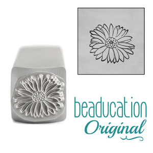 Metal Stamping Tools Gerbera Daisy Metal Design Stamp, 10.8mm - Beaducation Original