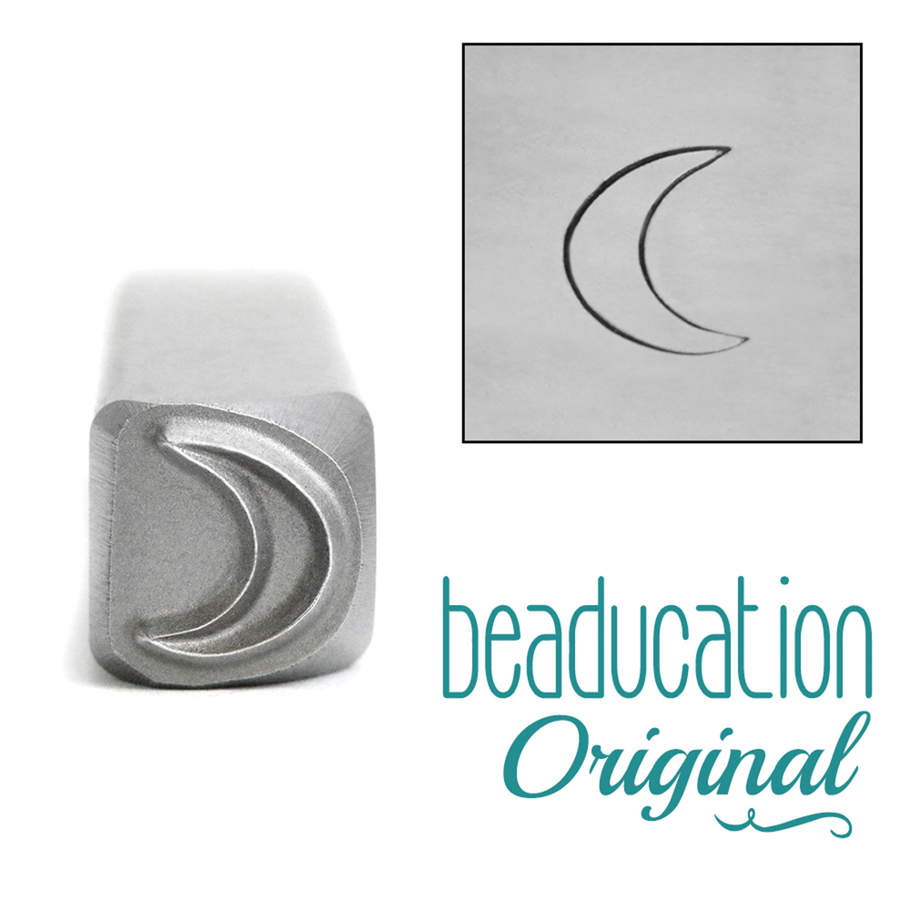 Metal Stamping Tools Crescent Moon Metal Design Stamp, 7mm - Beaducation Original