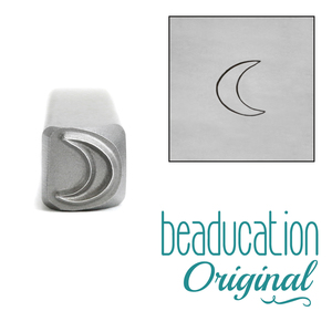 Metal Stamping Tools Crescent Moon Metal Design Stamp, 4mm - Beaducation Original