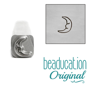 Metal Stamping Tools Smiling Crescent Moon Metal Design Stamp, 5mm - Beaducation Original
