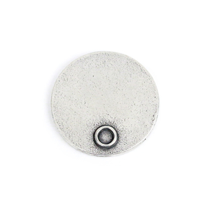 "Metal Stamping Blanks Pewter Circle with Birthstone Bezel, 21mm (.83""), 16g"