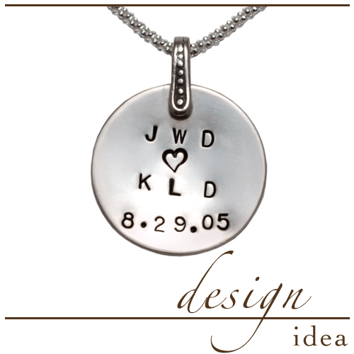 Design Ideas Design Idea: Anniversary Initials Pendant
