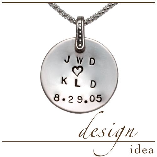 Design Idea: Anniversary Initials Pendant